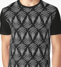 Original Fern Illustration - Black Graphic T-Shirt
