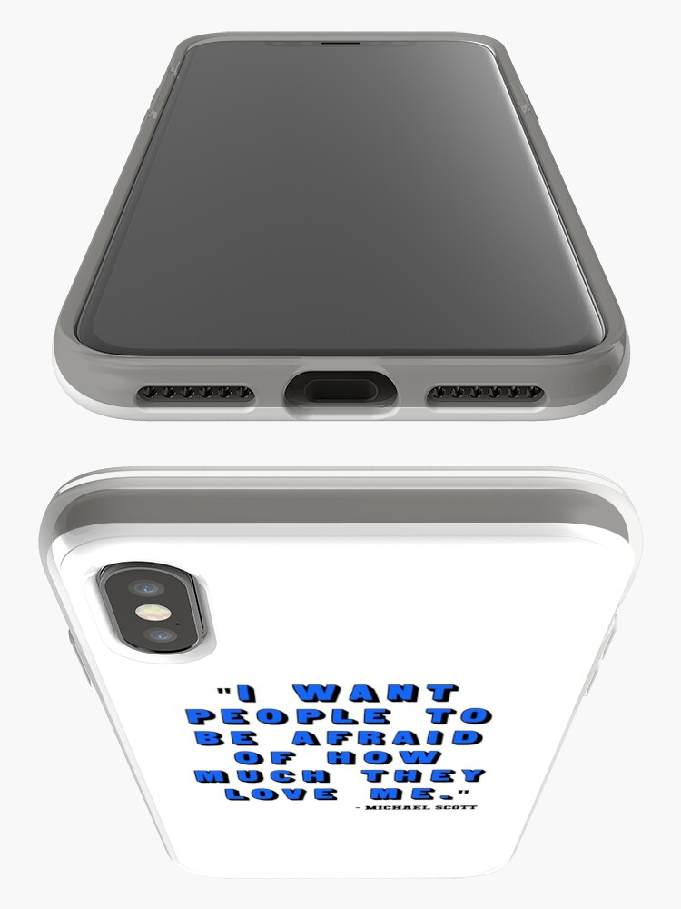 Alternate view of Custom for B -  Michael Scott Quote1 iPhone Case & Cover