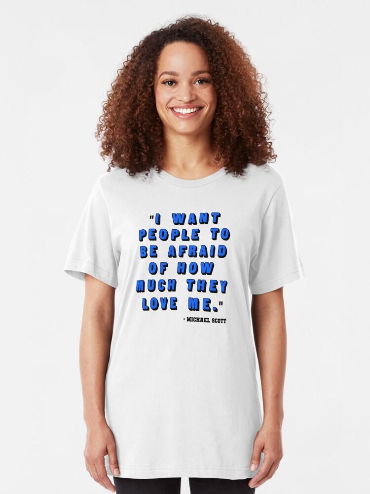 Alternate view of Custom for B -  Michael Scott Quote1 Slim Fit T-Shirt