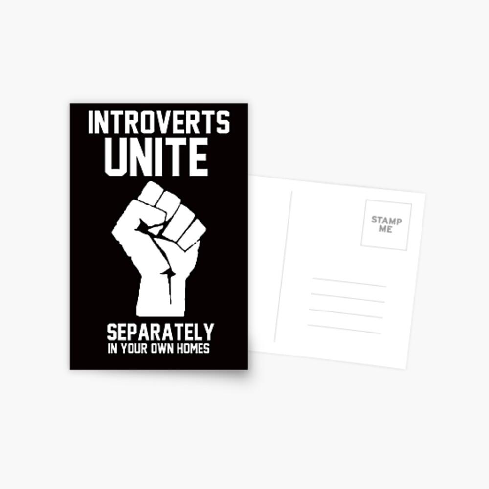Los introvertidos se unen por separado en sus propios hogares Postal