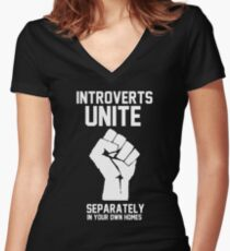 Introverts unite separately in your own homes Shirt mit V-Ausschnitt