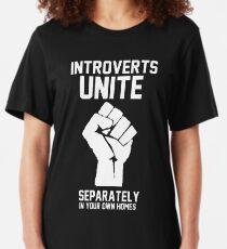 Camiseta ajustada Los introvertidos se unen por separado en sus propios hogares