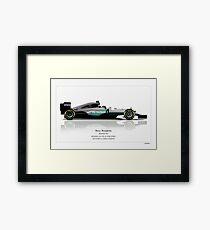 Nico Rosberg - Mercedes W07 - Champion edition art print Framed Print