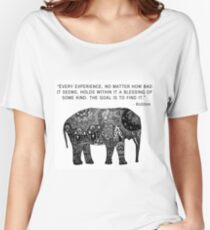 Buddha Wisdom Elephant Women's Relaxed Fit T-Shirt