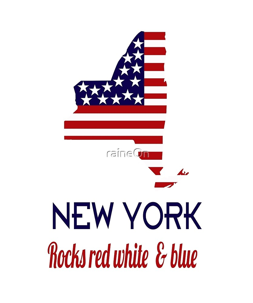 New York Rocks Red White & Blue by raineOn