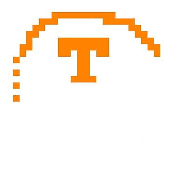 Tennessee Volunteers 8 bit Helmet by FPrints