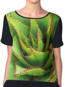 Prickly Green  Women's Chiffon Top