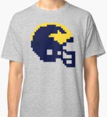 Michigan Wolverines 8-bit Football Helmet Classic T-Shirt