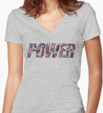 POWER Women's Fitted V-Neck T-Shirt