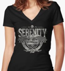 Space Pioneers Women's Fitted V-Neck T-Shirt