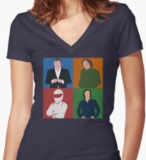 Top Gear Gang Women's Fitted V-Neck T-Shirt