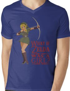 What if Zelda was a girl? (it's a joke) Mens V-Neck T-Shirt