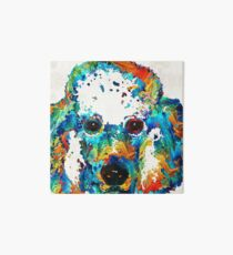 Colorful Poodle Dog Art by Sharon Cummings Art Board