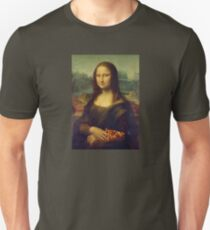 Mona Lisa with a Piece of Pizza T-Shirt
