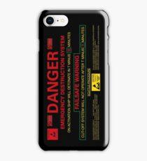 EMERGENCY DESTRUCTION SYSTEM - iPhone iPhone Case/Skin