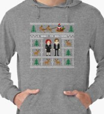 I WANT TO BELIEVE IN UGLY CHRISTMAS Lightweight Hoodie