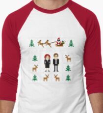 I WANT TO BELIEVE IN UGLY CHRISTMAS Men's Baseball ¾ T-Shirt