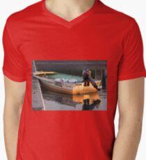 Gone Fishin Mens V-Neck T-Shirt