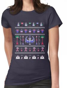 Moon Christmas  Womens Fitted T-Shirt