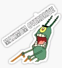 Maximum Overdrive Plankton Sticker Sticker