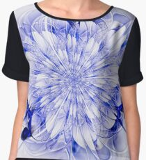Abstract fractal flower  - computer-generated image Women's Chiffon Top