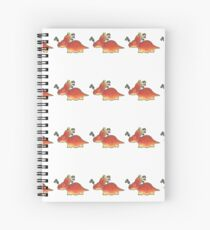 Orange Styracosaurus Derposaur with Socks Spiral Notebook