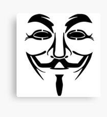 Anonymous Guy Fawkes Mask Canvas Print