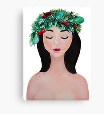 Laurel - christmas wreath crown Canvas Print