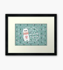 Lazy Quote Framed Print