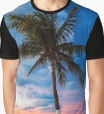 Cancun Palm at Sunset Graphic T-Shirt