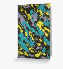 Turquoise & Yellow Greeting Card