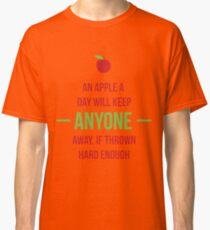 An apple a day will keep anyone away Classic T-Shirt