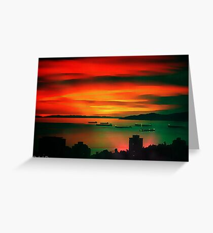 Sunset Sizzle Greeting Card