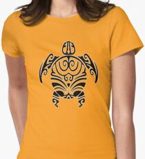 maori turtle tortue tattoo tribal Womens Fitted T-Shirt