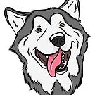 Happy Malamute by rmcbuckeye