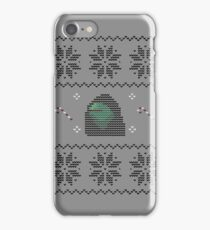 Hooded Kermit Christmas Sweater iPhone Case/Skin