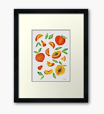 Peaches Framed Print