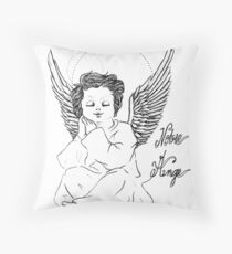 notre ange Throw Pillow