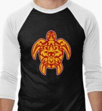 maori turtle turtle tribal tattoo Men's Baseball ¾ T-Shirt