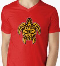 maori turtle turtle tribal tattoo Men's V-Neck T-Shirt