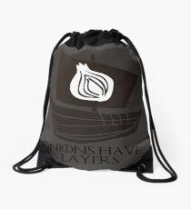 onions have layers Drawstring Bag