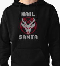 Hail Santa Ugly Sweater Pentagram Pullover Hoodie