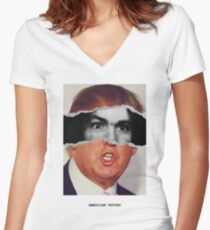 Donald Trump Charles Manson American Psycho Women's Fitted V-Neck T-Shirt