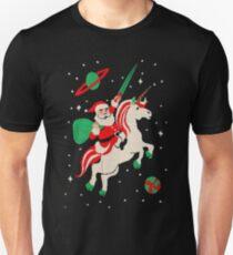 Santa and Unicorn Unisex T-Shirt