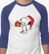 Christmas gift from snoopy Men's Baseball ¾ T-Shirt