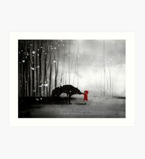 Little Red Riding Hood ~ The Fisrt Touch  Art Print