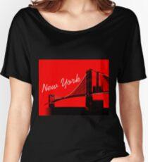 The Brooklyn Bridge New York Design Women's Relaxed Fit T-Shirt