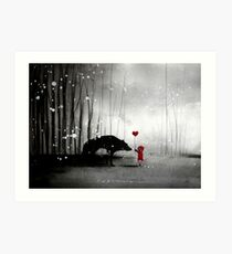 Little Red Riding Hood ~ I love You  Art Print