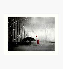 Little Red Riding Hood ~ I love You  Art Print