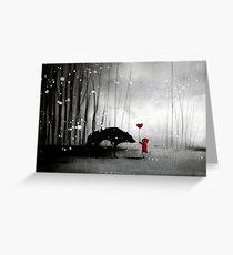 Rotkäppchen ~ Ich liebe dich Grußkarte